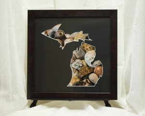 Michigan Framed Art - Petosky Stone and Agate